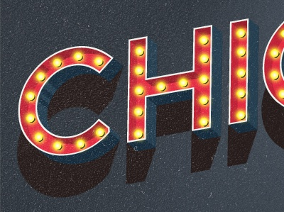 Chicago typography design lettering type vintage