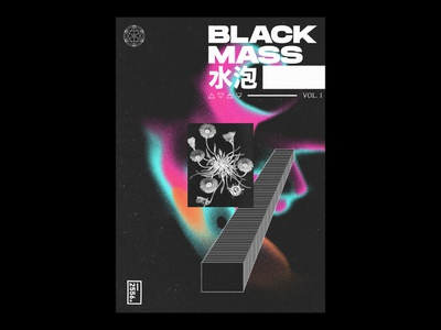 Black Mass symbols typogaphy experiential poster art poster graphic design design