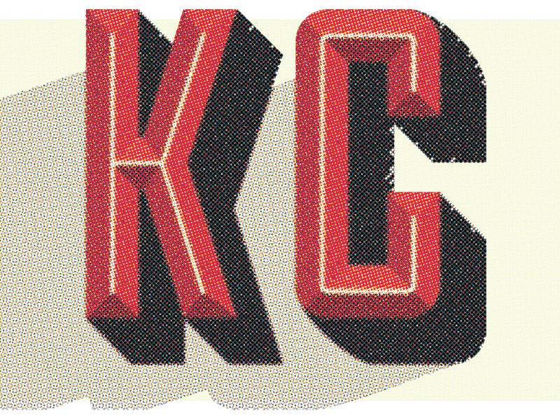 KC typography type design lettering vintage