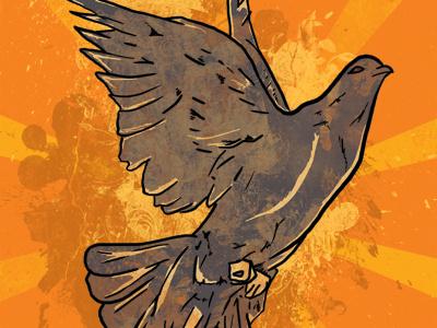 Benefit Show for Dave design illustration animal band poster grunge graphic design hand drawn print flyer