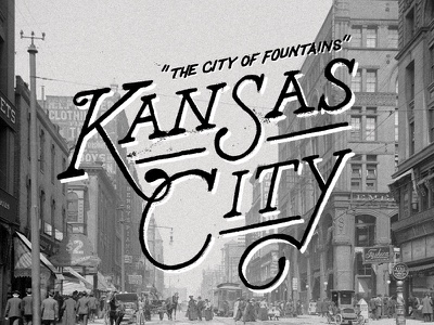 The City of Fountains typography type design lettering hand lettering vintage graphic design