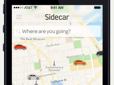 Sidecar iOS 7 Launch Proposal sidecar ios ios 7 ios 8 apple maps map blur nav bar wwdc