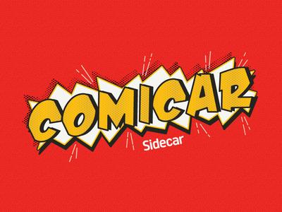 Comicar Email Header sidecar graphic typography comicon comics pow halftone
