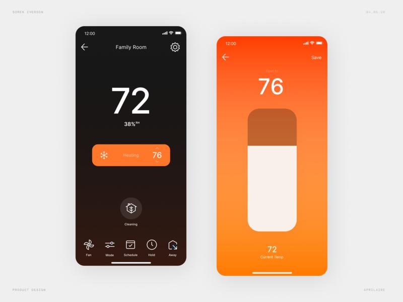 Thermostat Rebound - Dark Mode