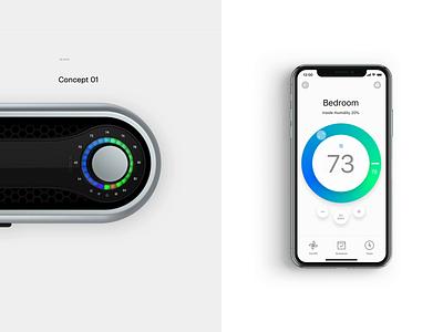 Secret Project Prototype animation prototype air conditioner ui interaction remote control iphone product design simple digital ios app interaction design minimal clean