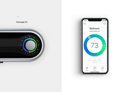 Secret Project Prototype animation prototype air conditioner ui interaction remote control iphone product design simple digital ios app interaction design minimal clean