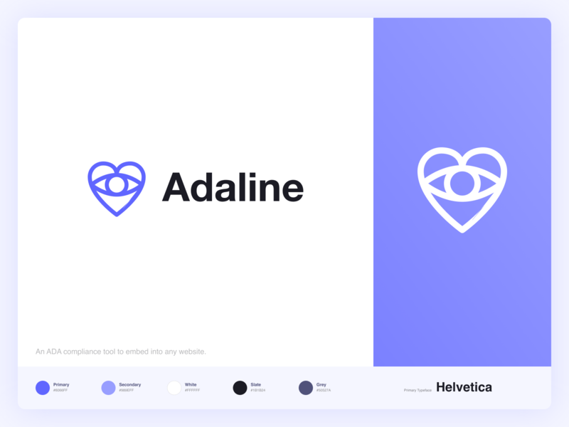 ADA Compliance Logo 💙 modern logo typography branding concept blue flat logo design vector branding and identity simple clean eyelogo heart logo ada compliance logo branding