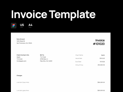 Invoice Template Designs Themes Templates And Downloadable Graphic Elements On Dribbble