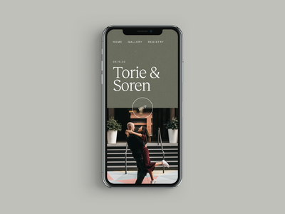 Mobile Wedding Website Design webdesign mobile wedding photo green design typography ux web ui digital flat simple minimal clean
