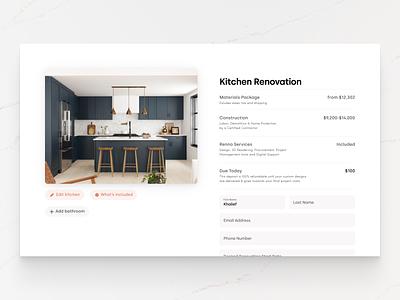 Renno Summary renovation website checkout cart summary typography ux web ui digital flat simple minimal clean