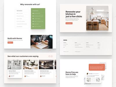 Renno Modules website design modular website ui design modules website design typography ux web ui digital flat simple minimal clean