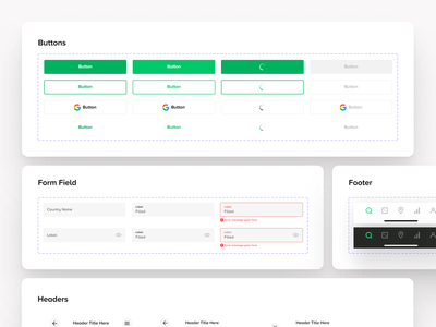 Cardboard Companion – Design System figma variable components ux design system ios mobile app app design ui digital flat simple minimal clean