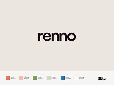 Renno Branding orange graphic design brand renno font silka typography branding logo digital flat simple minimal clean