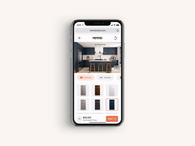 Renno – Design Planner Prototype renno cabinet popover ui digital flat simple minimal clean web mobile design planner interior home renovation