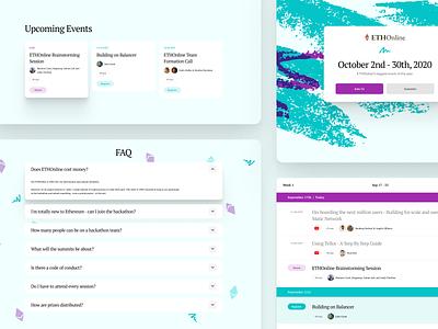 Ethereum Hackathon – Page Details teal purple ethereum hackathon website 90s jazz design web ui digital flat simple minimal clean