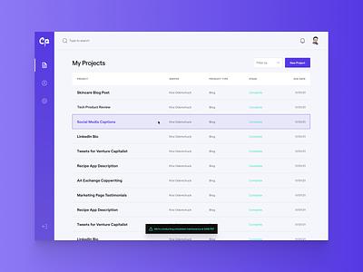 Compose.ly Dashboard desktop modern purple minimalist roobert dashboard design web ui flat digital simple minimal clean