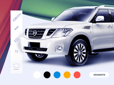 App iPad Bawabat Al Sharq Mall car draw painting app color