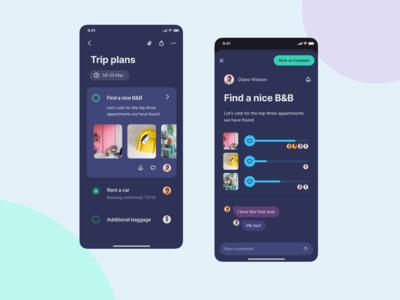 Travel planning app
