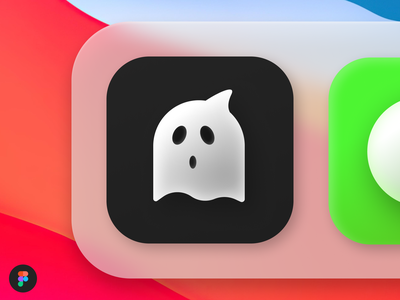 Ghost Sur boo surf big black launcher vector free ios bigsur macos icon figma ghost