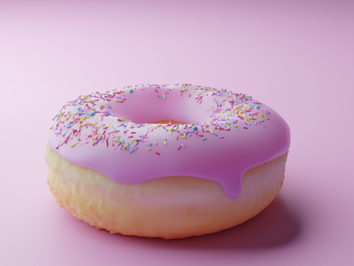 Another donut 🍩 minimal food blender3d blender