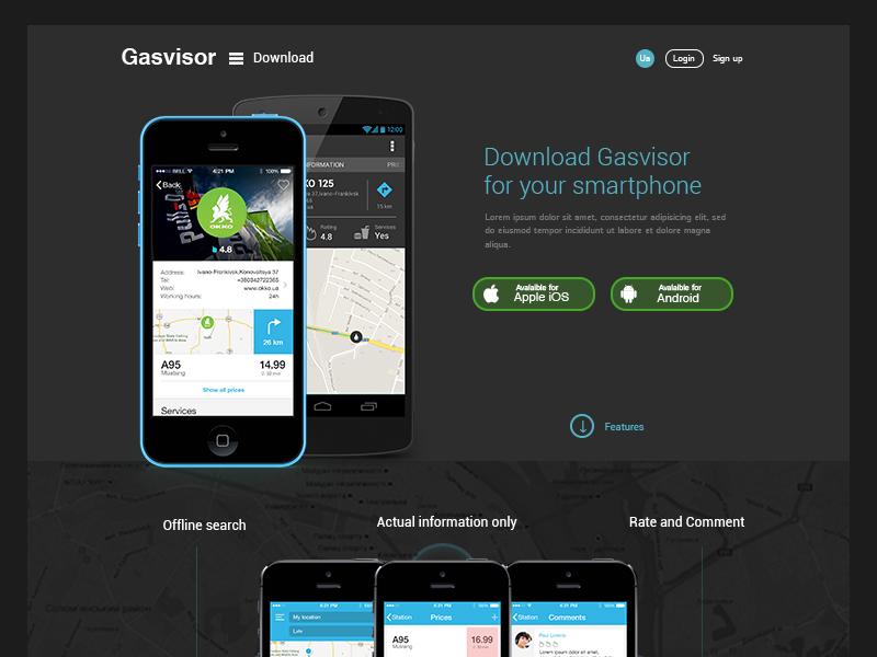 Gasvisor Landing ui webdesign interface landing dark blue web design landing page