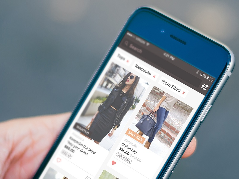 Ecommerce ios application design ecommerce fashion gui ios iphone mobile mockup ui ux user interface