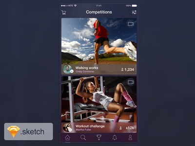 Sport iOS app freebie