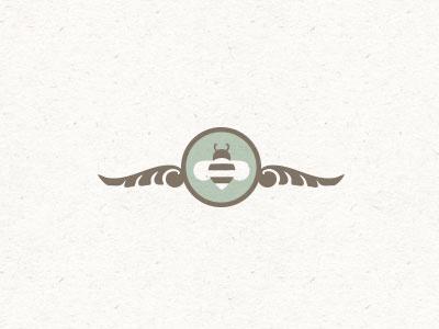 Tiny bee bee illustration logo mark