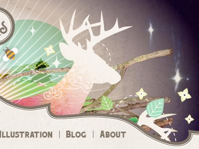 Website website deer stag bee nature