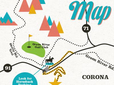 Venue Map map illustration vector