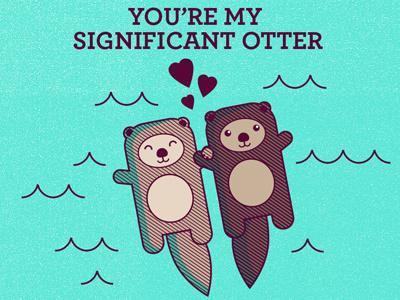 Significant Otter otter valentine animals