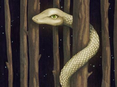 Giant Snake snake animal tree forest illustration photoshop graphite