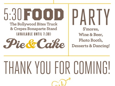 Wedding Program wedding program typography brown yellow