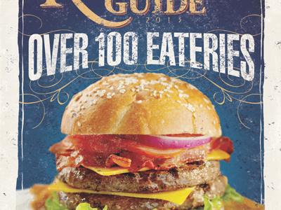 Restaurant Guide 2013 magazine restaurant cover food burger