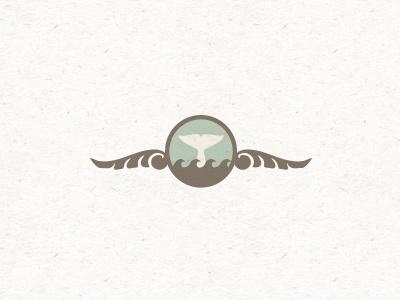 Tiny whale whale tail logo animal illustration mark