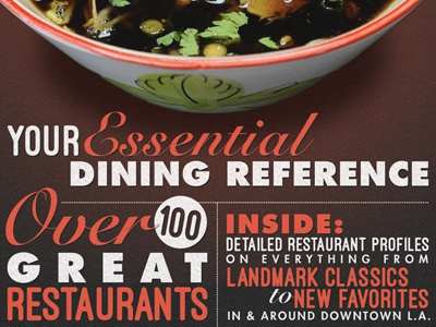 Restaurant Guide 2014 magazine typography cover food restaurant guide