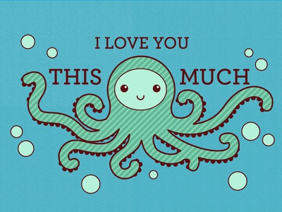 This Much - Octopus animal octopus cute vector