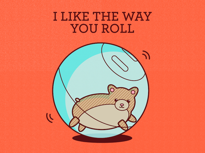I like the way you roll greeting card etsy print greeting card illustration illustrator vector cute animal hamster