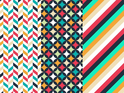 Patterns patterns geometric stripes herringbone