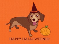 happy halloweenie daschund!