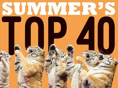 Summer's Top 40 Arts & Entertainment los angeles la big cats orange animals tigers arts and entertainment ae tiger design layout newspaper