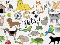 Pets Clipart Illustrations