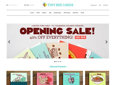 New Website! art prints gifts illustration small business cards web valentine web design website