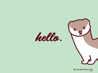 Free stoat wallpaper