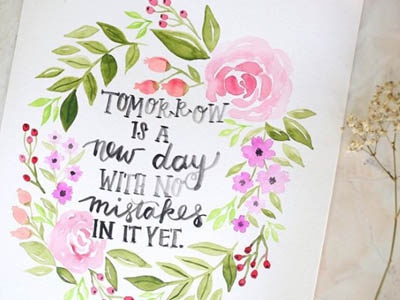 Anne of Green Gables watercolor floral floral hand lettering lettering watercolor