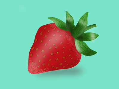 Strawberry leaves red fruit illustration design texture strawberry