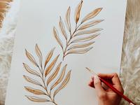 Watercolor Leaves