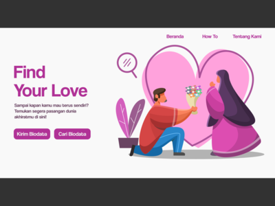 Islamic Marriage Dating Site Illustration love illustration love religion muslimah islamicart ui vector branding illustration couple illustration couple wedding card muslimwedding muslim dating app landing page islamic art dating marriage islam