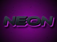 Neon neon neon alphabet psd text effects font effects editable text text style text effects editable text