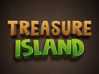 Treasure Island text psd text effects font effects editable text style text effects editable text